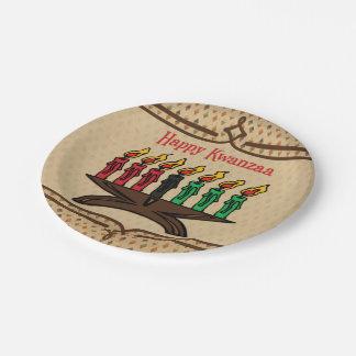 Kinara, Happy Kwanzaa 7 Inch Paper Plate