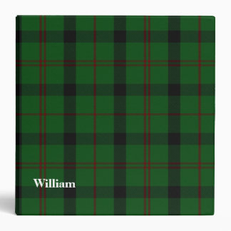 Kincaid Clan Custom Tartan Plaid Binder
