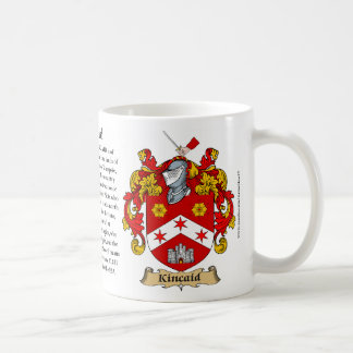 Kincaid, the Origin, the Meaning and the Crest Mug
