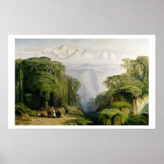 Kinchinjunga from Darjeeling, 1879 (oil on canvas) Poster