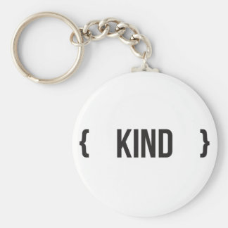 Kind - Bracketed - Black and White Keychain