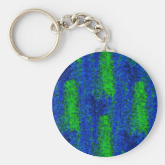 Kind Deco blue green fragments of glass Keychain