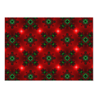 Kind Deco in Retro styles green red with asterisks Invite