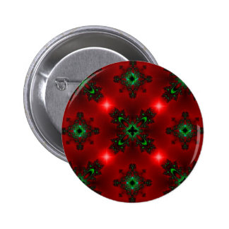 Kind Deco in Retro styles green red with asterisks Pinback Button