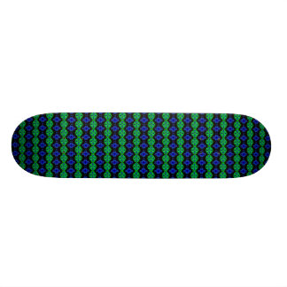 Kind Deco Retro look tulips in green and blue Skateboard