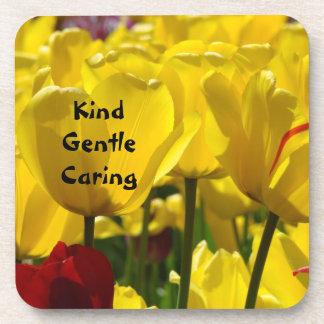Kind Gentle Caring Nurses week gifts Coaster Tulip