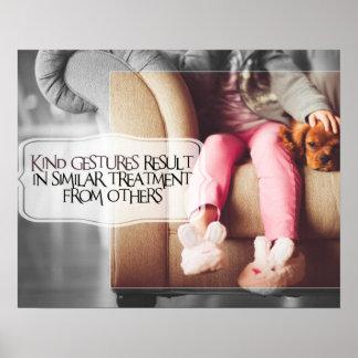 Kind Gestures by Positive Affirmations Poster