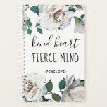 "Kind Heart Fierce Mind Watercolor Floral Planner<br><div class=""desc"">Kind Heart Fierce Mind Watercolor Floral Planner.</div>"