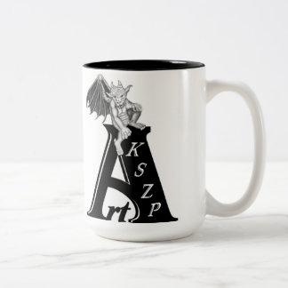 Kind KSZP logo with GOLEM Gargoyle Two-Tone Coffee Mug