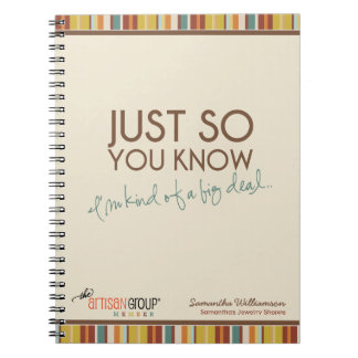 'Kind of a Big Deal' Notebook (TAG Members)