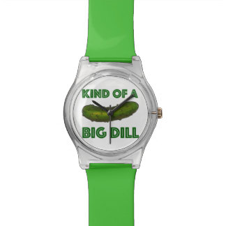 Kind of a Big Dill (Deal) Green Pickle Foodie Wrist Watch