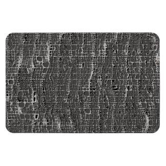 Kind Of Grey Concrete Rectangular Photo Magnet