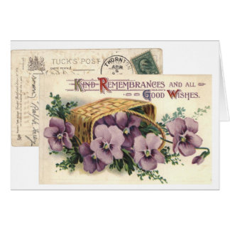 Kind Remembrances and Good Wishes Card