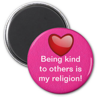Kind to others 2 inch round magnet
