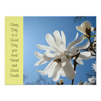Kind Words Good Deeds poster art print Nurses Week