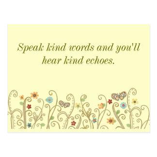 Kind Words Kind Echoes Postcard