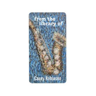 Kinda Blue bookplate Custom Address Label