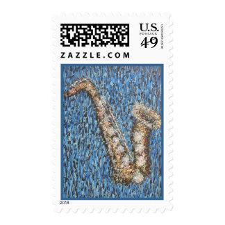 Kinda Blue sax stamp