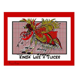 KINDA' LIKE A JUICER Collectible TRADE Postcard