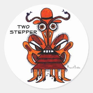 KINDA' LIKE A TWO STEPPER CLASSIC ROUND STICKER