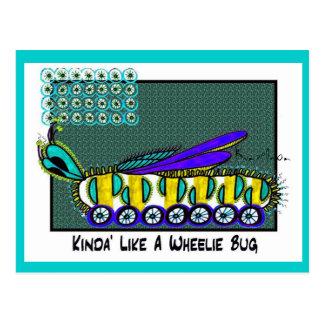 KINDA' LIKE A WHEELIE BUG collectible TRADE Postcard