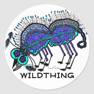 KINDA' LIKE A WILDTHING CLASSIC ROUND STICKER
