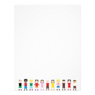 Kinder/Children/Niños Custom Letterhead