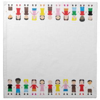 Kinder/Children/Niños Printed Napkins