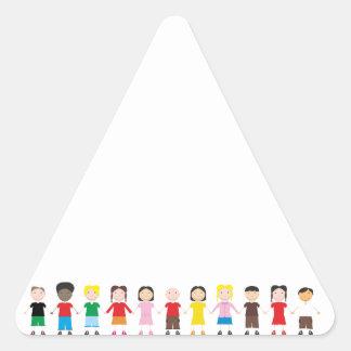 Kinder/Children/Niños Triangle Sticker