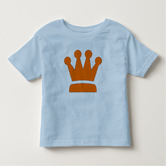 Kinder t-shirt met oranje kroon