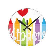 kinder teacher2 round clock