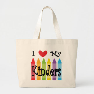 kinder teacher large tote bag
