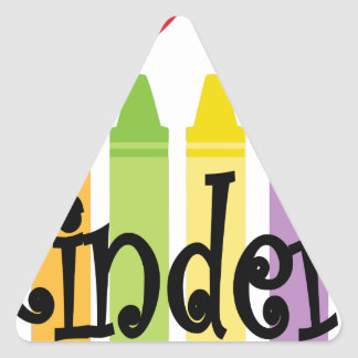 kinder teacher triangle sticker