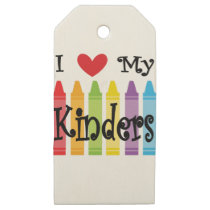 kinder teacher wooden gift tags