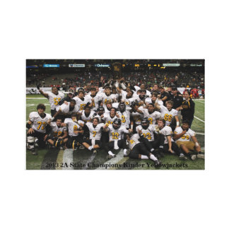 Kinder Yellowjackets State Champions Gallery Wrapped Canvas