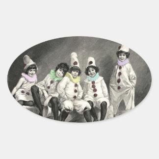 Kindercarneval Children Carnival Costume Vintage Oval Sticker
