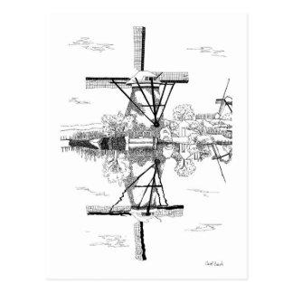 Kinderdijk Windmill Postcard
