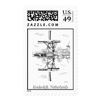 Kinderdijk Windmills Stamp
