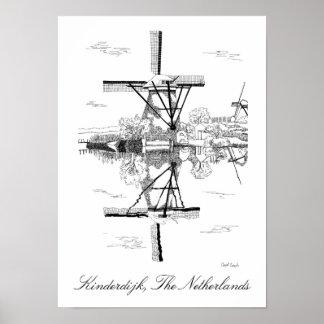 Kinderdijk Windmills - The Netherlands Poster