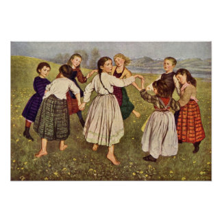 Kindergarden by Hans Thoma Posters