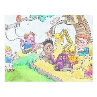 Kindergarden. Postcard