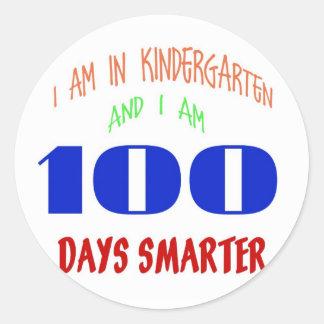 Kindergarten 100 Day Stickers