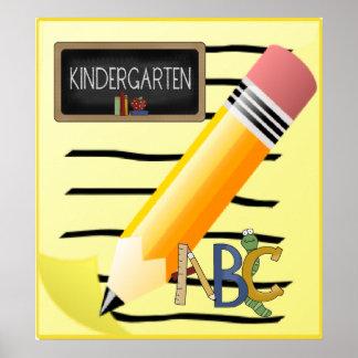 Kindergarten ABC Notepad School Poster