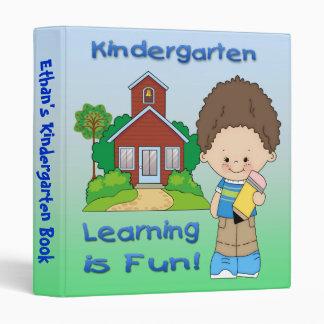 "Kindergarten Boy Learning is Fun 1"" Binder"
