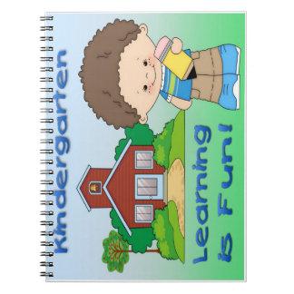 Kindergarten Boy Learning is Fun Spiral Notebook