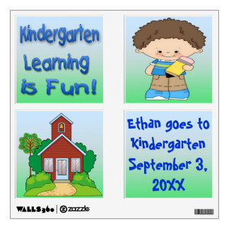 Kindergarten Boy Learning is Fun Wall Decor