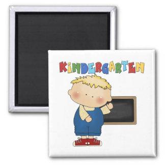 Kindergarten Boy 2 Inch Square Magnet