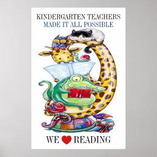 Kindergarten-Choose Size-We Love Reading! Poster