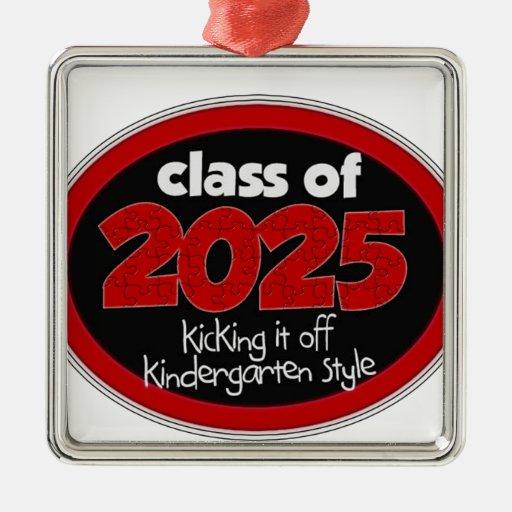 Kindergarten Class of 2025 School Kids Grade Ornaments