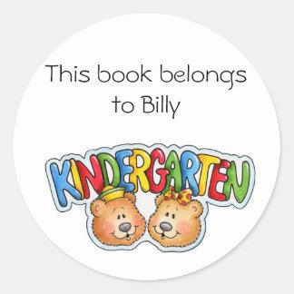 Kindergarten Classic Round Sticker